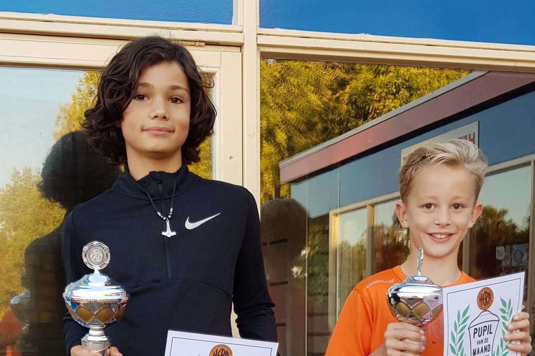 Kian Sanchez en Mees van der Loo, pupillen van de maand september