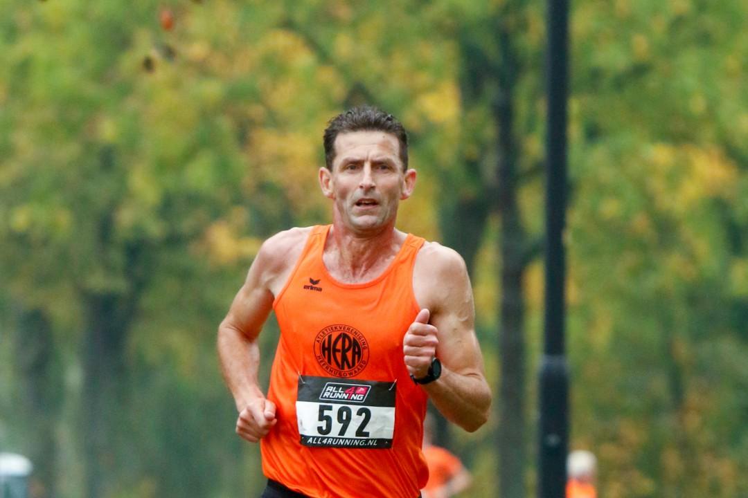 Pip Tesselaar bezig aan zijn laatste meters
